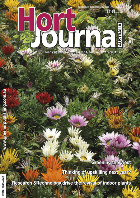 Cover of Hort Journal Australia December 2017