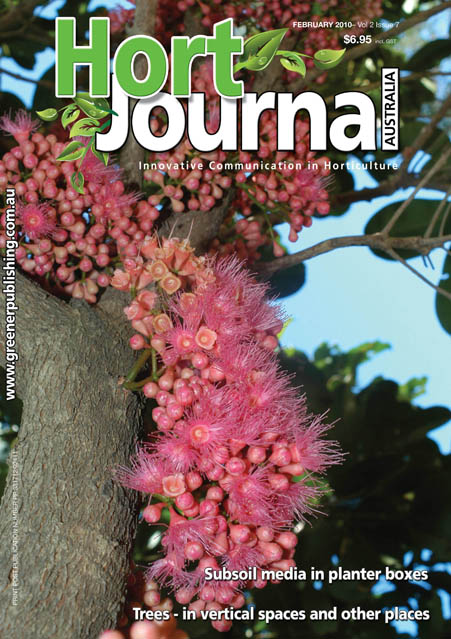 Cover of Hort Journal Australia February 2010
