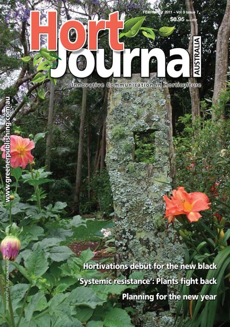 Cover of Hort Journal Australia February 2011