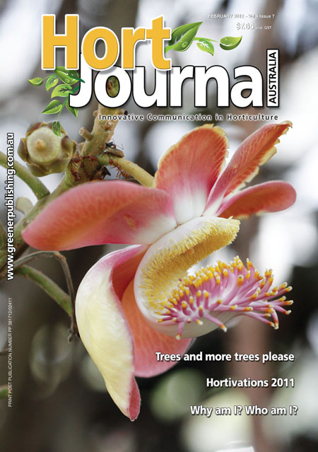 Cover of Hort Journal Australia February 2012
