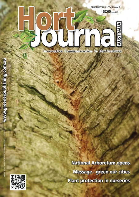 Cover of Hort Journal Australia February 2013