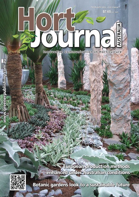 Cover of Hort Journal Australia February 2014