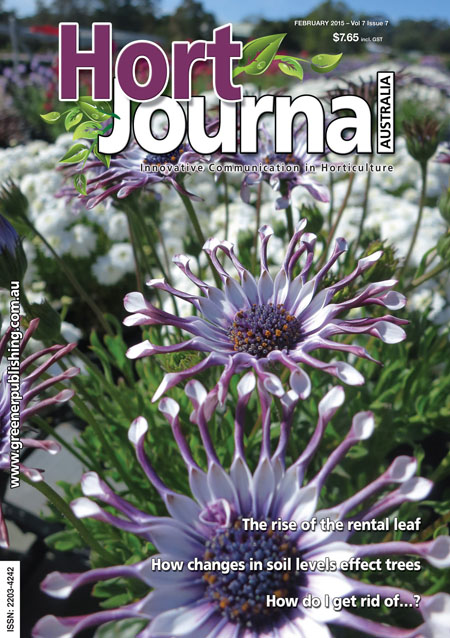 Cover of Hort Journal Australia February 2015