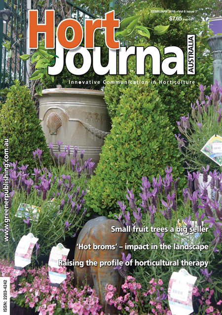 Cover of Hort Journal Australia February 2016