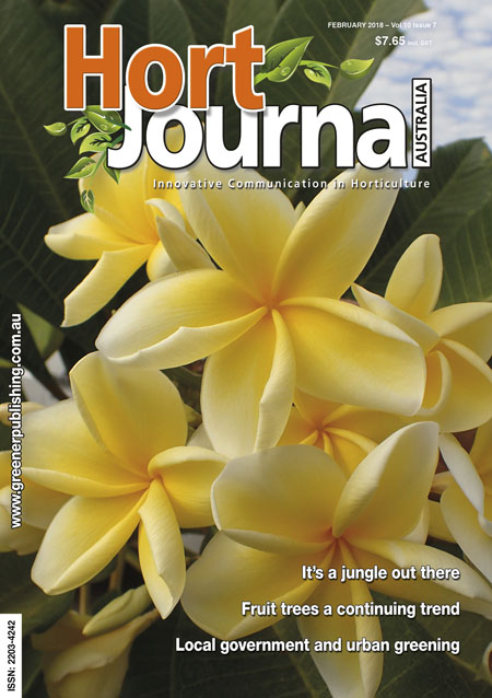 Cover of Hort Journal Australia February 2018