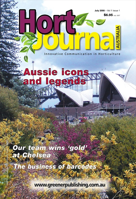 Cover of Hort Journal Australia July 2008