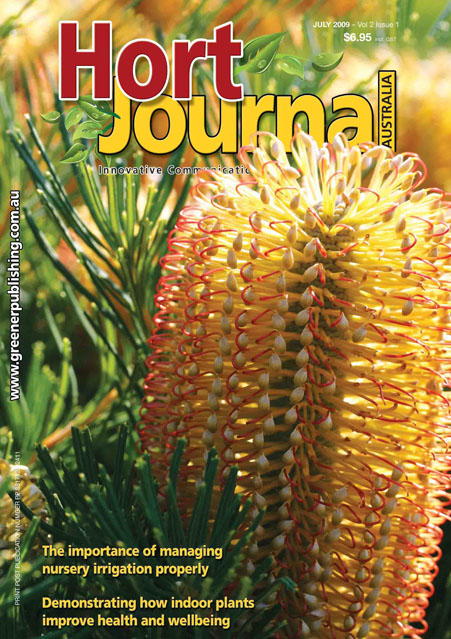 Cover of Hort Journal Australia July 2009