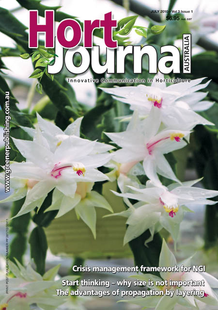 Cover of Hort Journal Australia July 2010