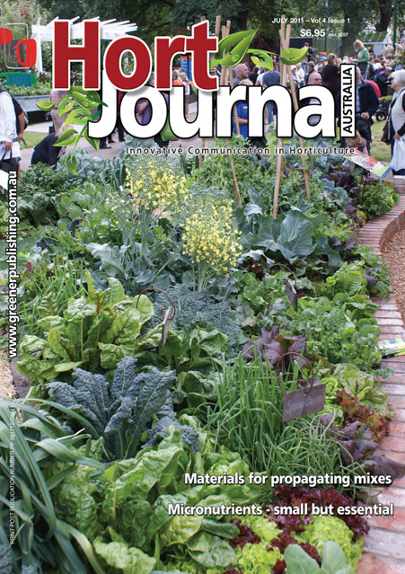 Cover of Hort Journal Australia July 2011