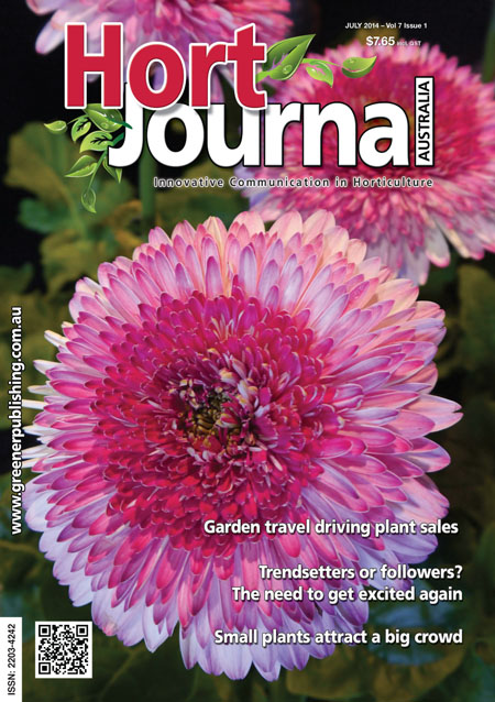 Cover of Hort Journal Australia July 2014