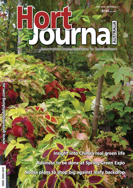 Cover of Hort Journal Australia July 2015
