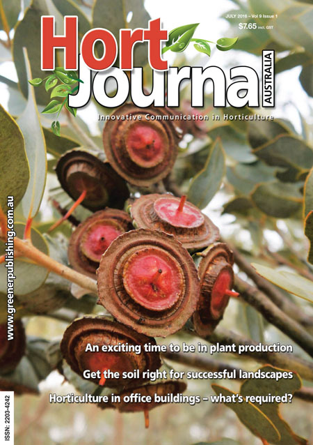 Cover of Hort Journal Australia July 2016