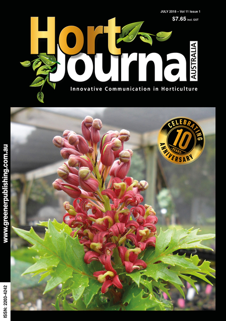 Cover of Hort Journal Australia July 2018