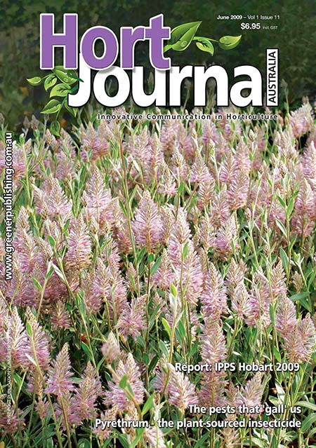 Cover of Hort Journal Australia June 2009