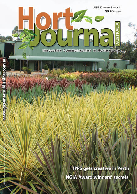 Cover of Hort Journal Australia June 2010