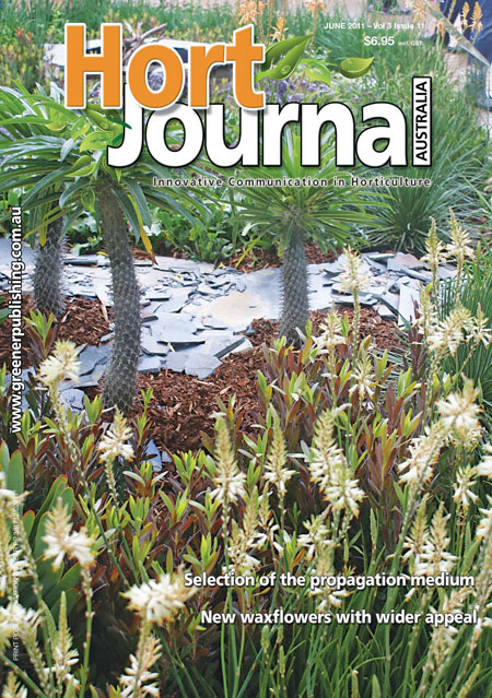 Cover of Hort Journal Australia June 2011
