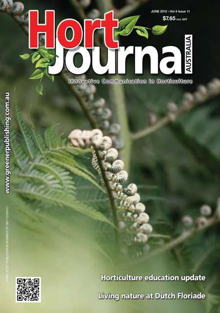 Cover of Hort Journal Australia June 2012
