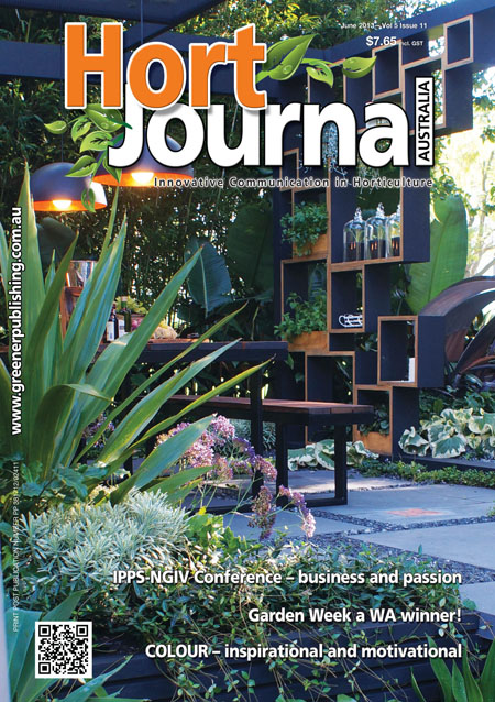Cover of Hort Journal Australia June 2013