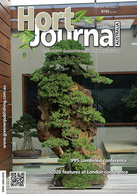 Cover of Hort Journal Australia June 2014