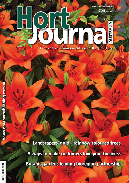 Cover of Hort Journal Australia June 2016