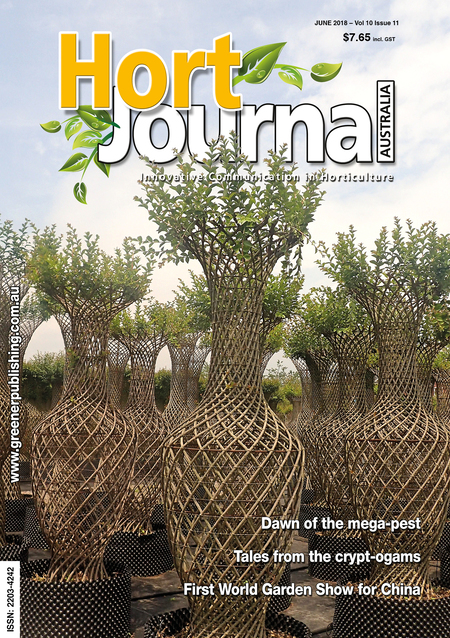 Cover of Hort Journal Australia June 2018
