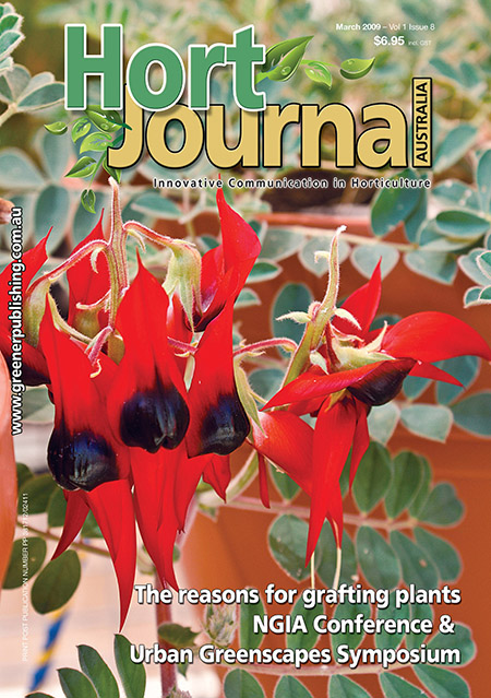 Cover of Hort Journal Australia March 2009