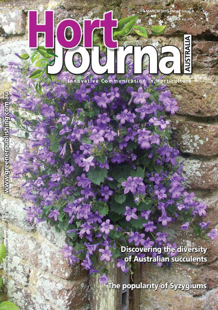 Cover of Hort Journal Australia March 2010
