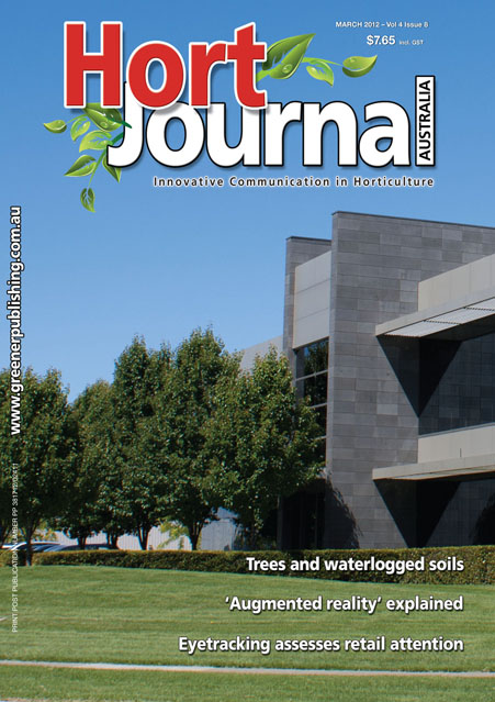 Cover of Hort Journal Australia March 2012