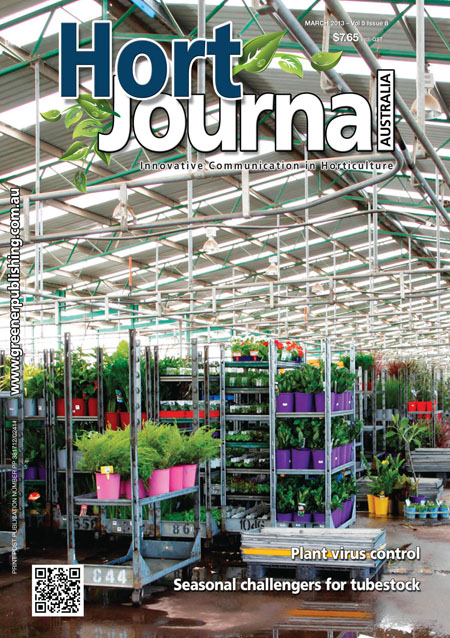 Cover of Hort Journal Australia March 2013
