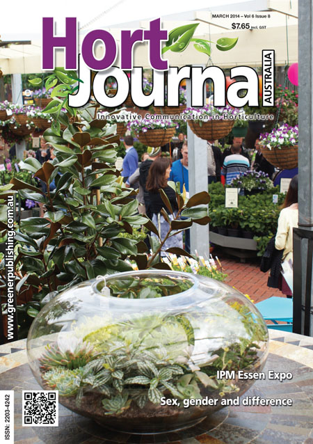 Cover of Hort Journal Australia March 2014