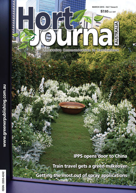 Cover of Hort Journal Australia March 2015