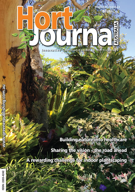 Cover of Hort Journal Australia March 2016