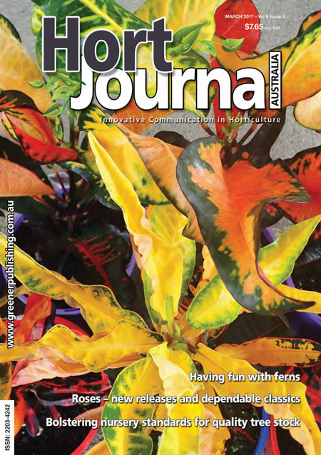 Cover of Hort Journal Australia March 2017