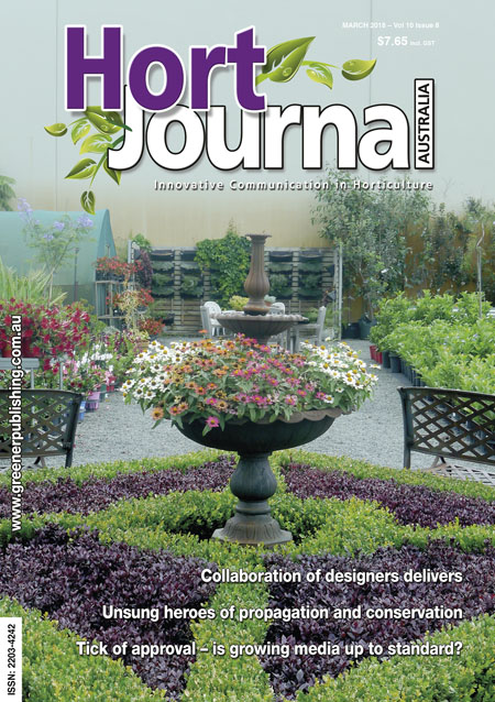 Cover of Hort Journal Australia March 2018