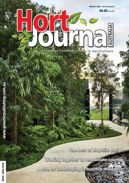 Cover of Hort Journal Australia March 2020