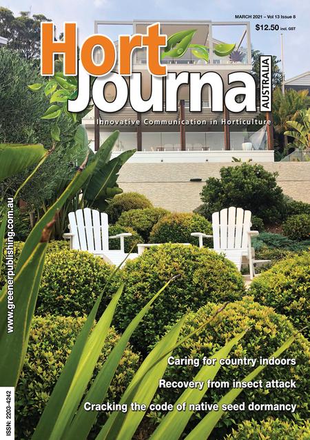 Cover of Hort Journal Australia March 2021