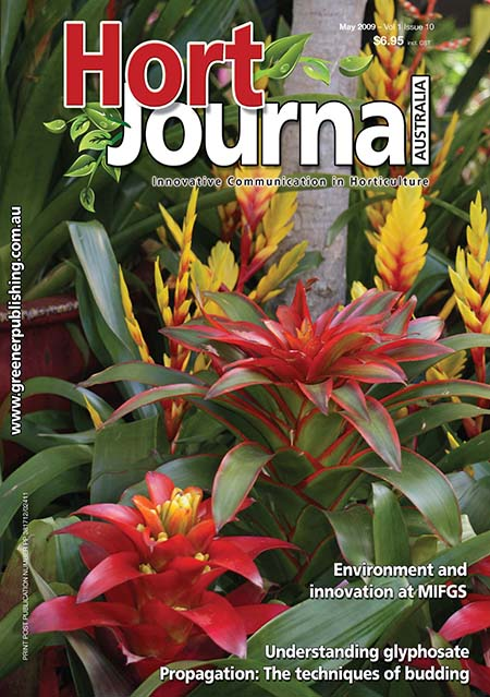Cover of Hort Journal Australia May 2009