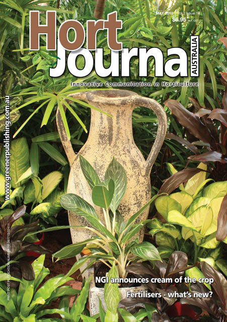 Cover of Hort Journal Australia May 2010