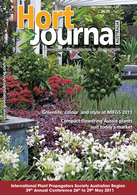 Cover of Hort Journal Australia May 2011