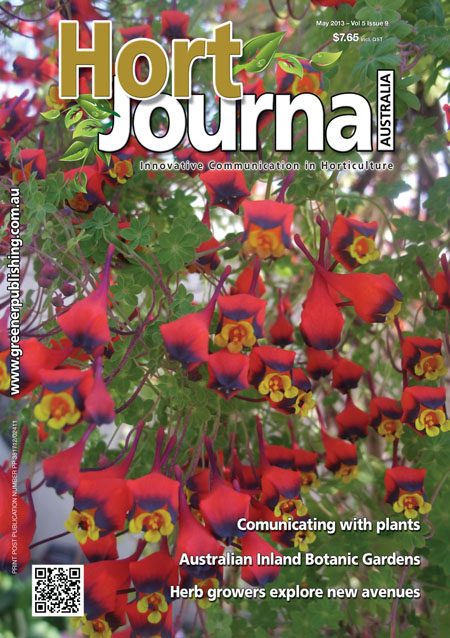 Cover of Hort Journal Australia May 2013