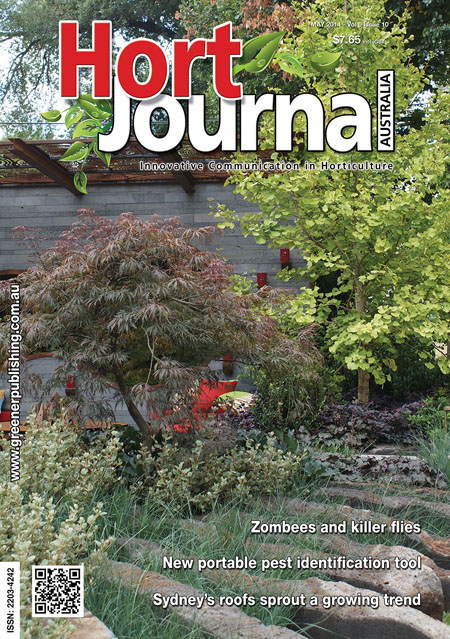 Cover of Hort Journal Australia May 2014
