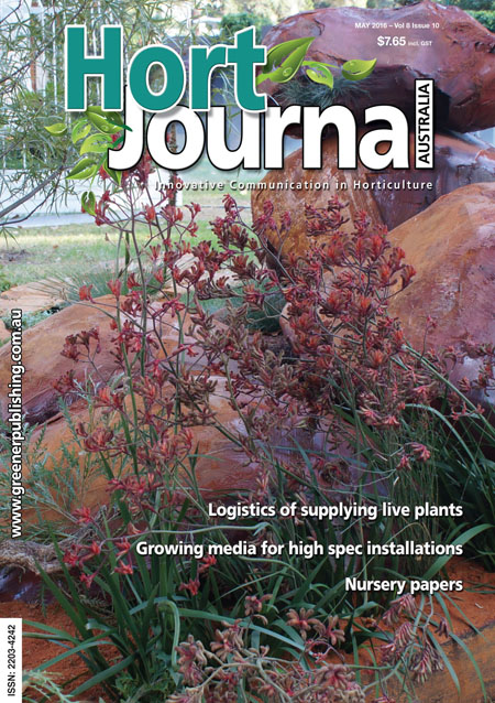 Cover of Hort Journal Australia May 2016