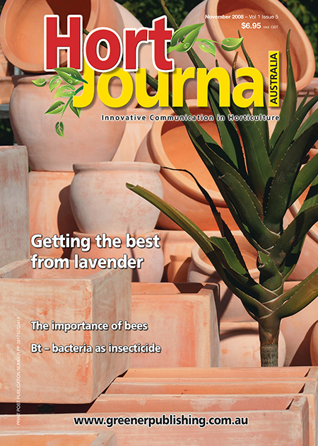 Cover of Hort Journal Australia November 2008