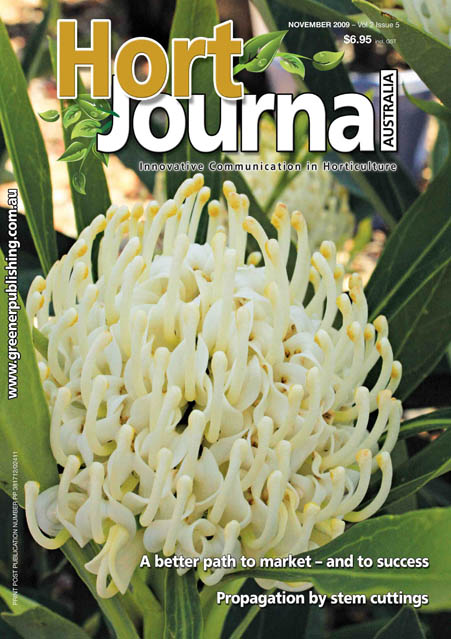 Cover of Hort Journal Australia November 2009