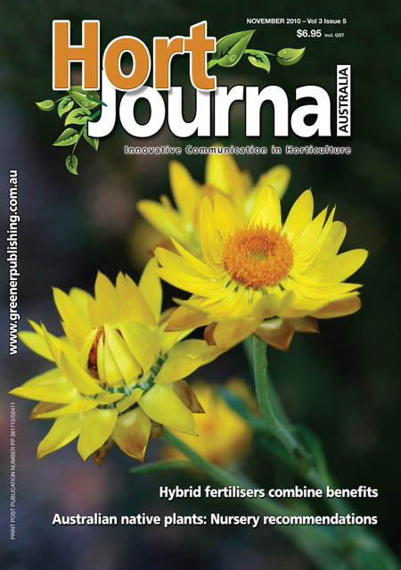 Cover of Hort Journal Australia November 2010