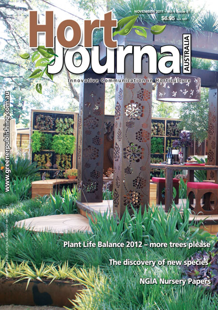 Cover of Hort Journal Australia November 2011