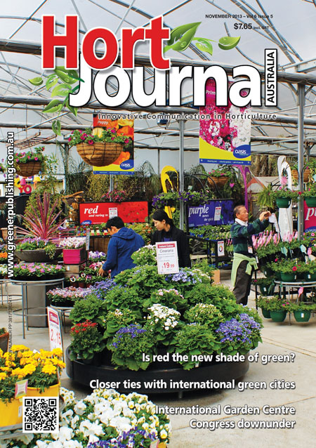 Cover of Hort Journal Australia November 2013