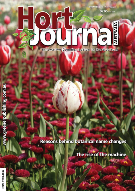 Cover of Hort Journal Australia November 2014