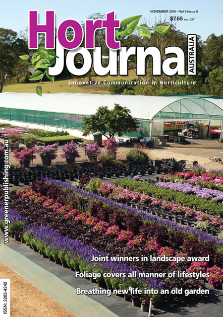 Cover of Hort Journal Australia November 2015