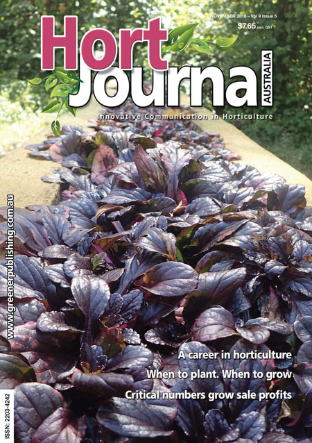 Cover of Hort Journal Australia November 2016